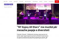 """""""NY Gypsy All Stars"""" me muzikë për mesazhe paqeje e diversiteti"""