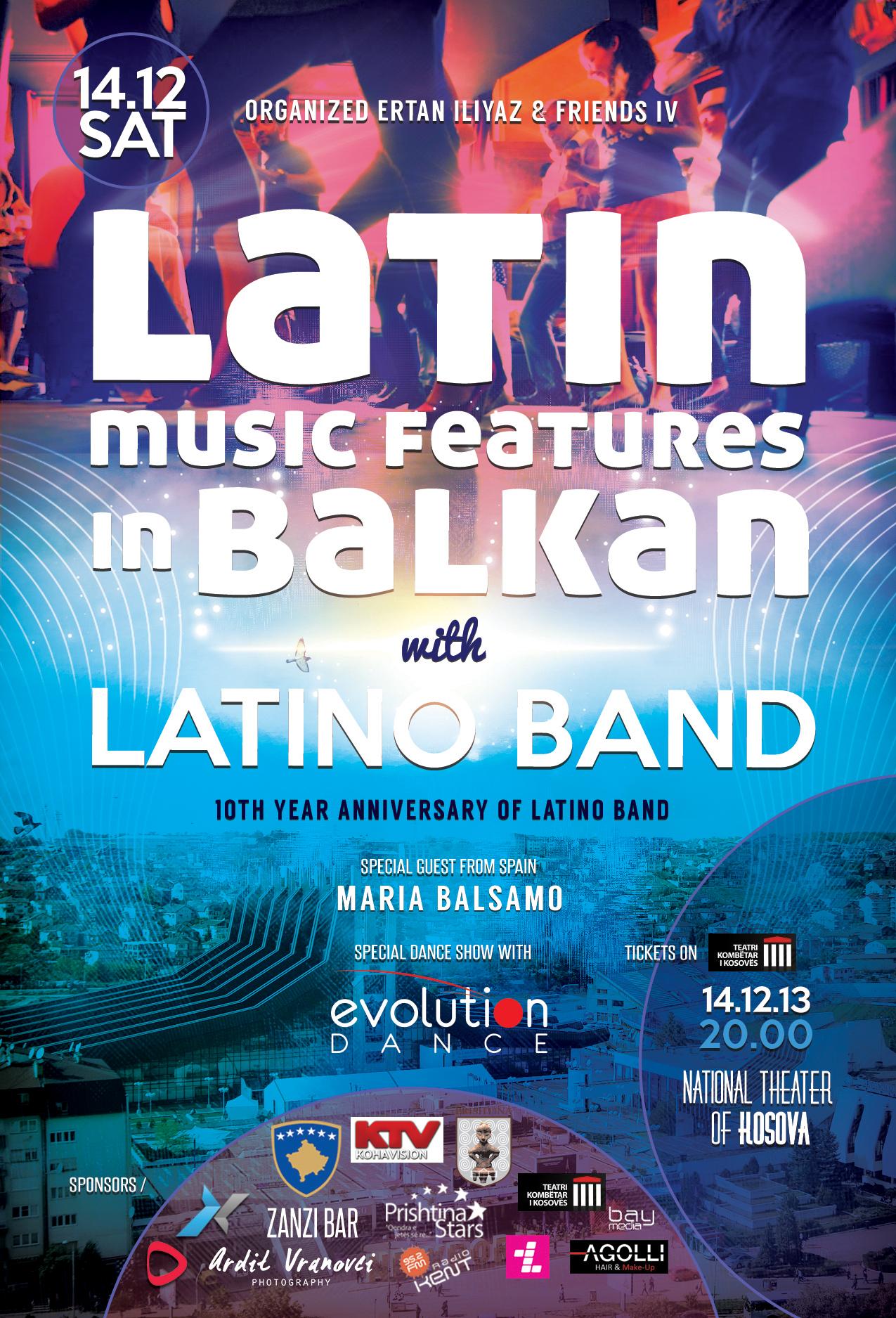 "Concert Latin Music features in Balkan & Latino Band"""