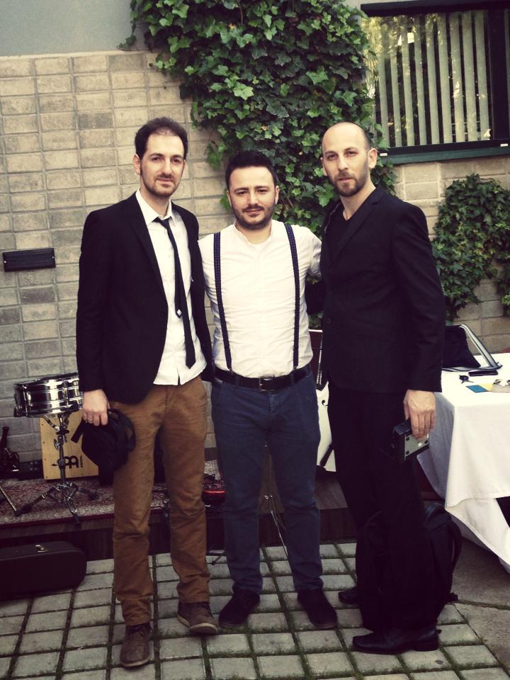 Ertan Iliyaz, Adorel Haxhiaj and Agron Peni celebrate Sweden national day