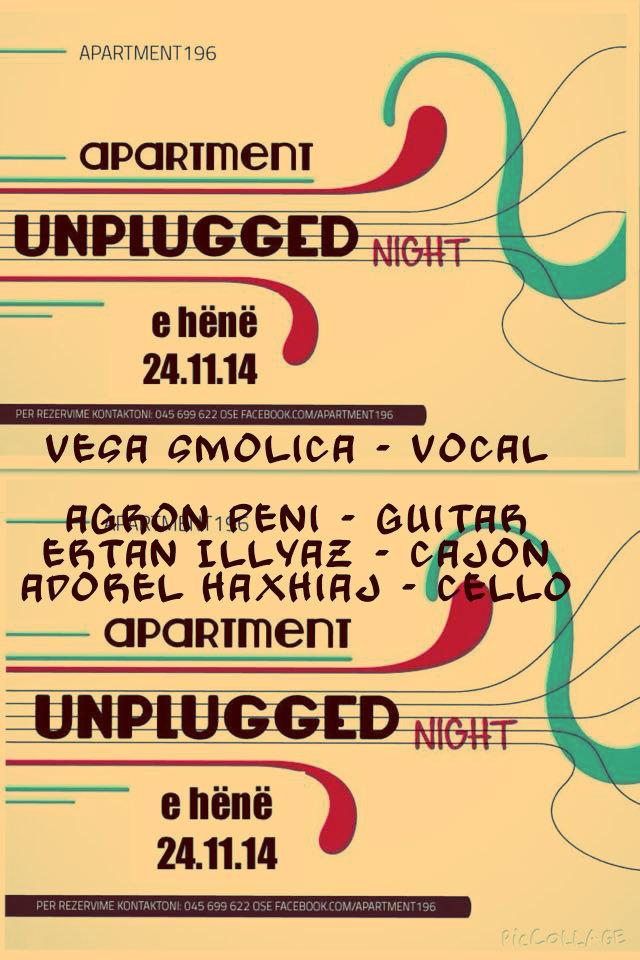 Vesa Smolica - Vocal Agron Peni - Guitar Ertan Illyaz - Cajon Adorel Haxhiaj - Cello